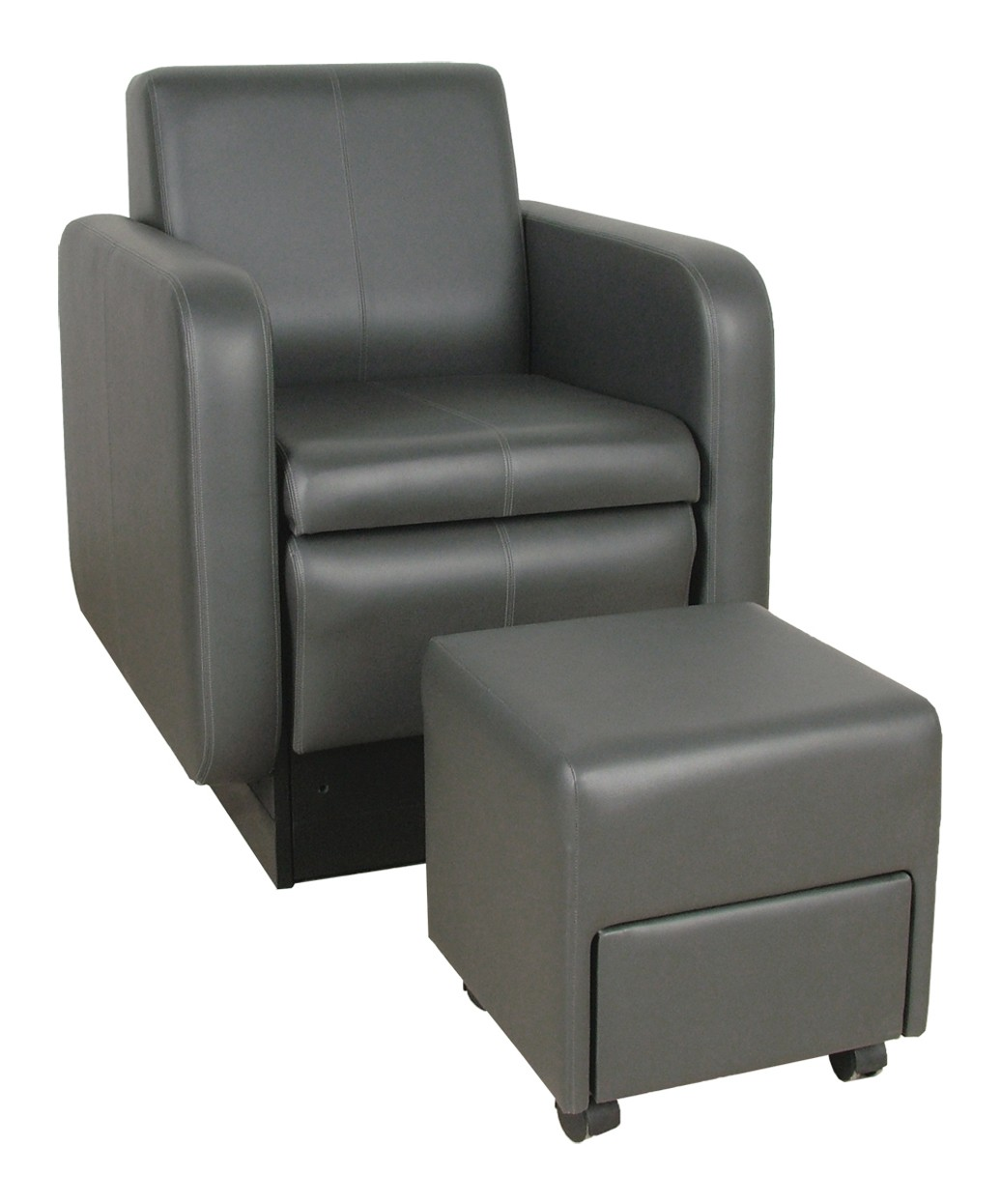 2555 Blush Ckub Pedicure Chair with Footsie Bath