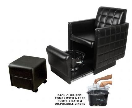 2560 QSE Club Pedicure Nouveau Chair with Footsie Spa
