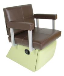 6750L Quarta Shampoo Chair with Kick Out Legrest