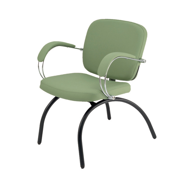 3920 Latina Reception Chair with Curved Legs