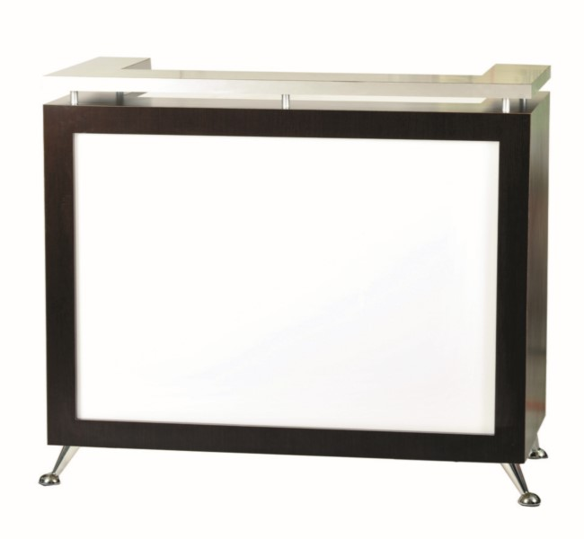 5057 Reception Desk with Lit Front Panel