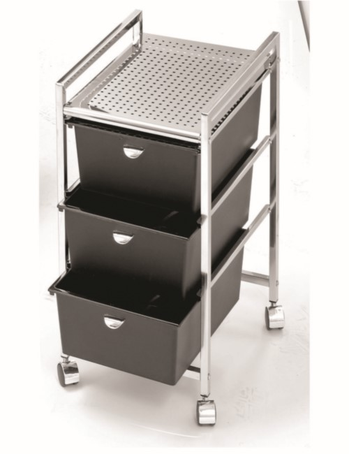 D23 Three Drawer Metal Cart Frame