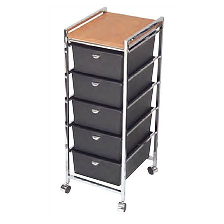 D28WD Five Drawer Metal Frame Cart