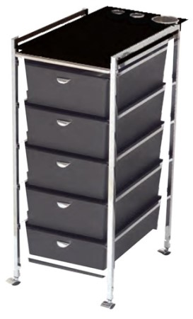 D28BL Five Drawer Metal Frame Cart