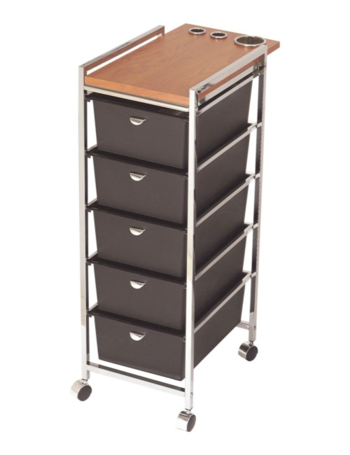 D29WD Five Drawer Metal Frame Cart with ACC Holder