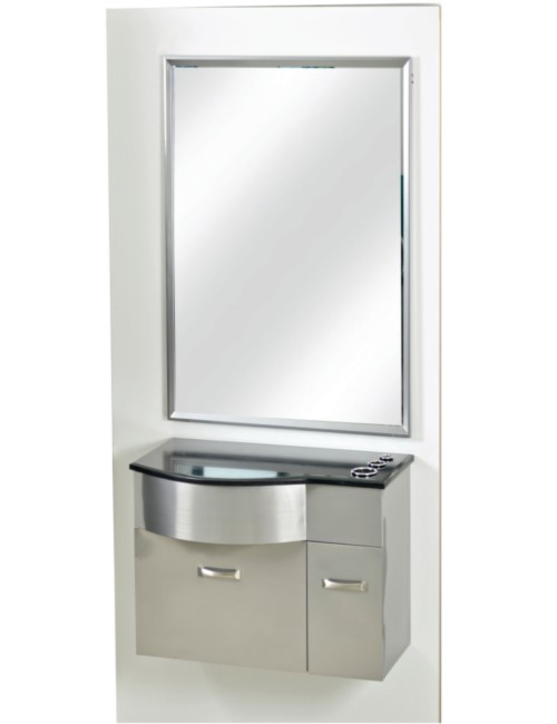 PB52B Stainless Steel Station with Mirror