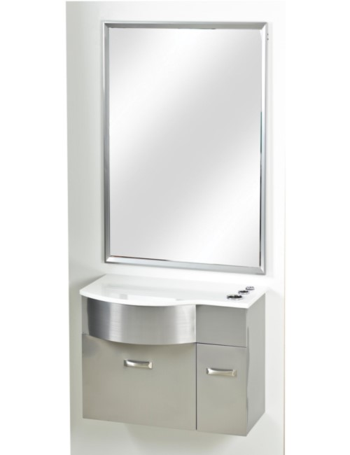 PB52W Stainless Steel Station with Mirror